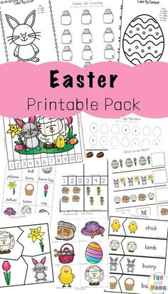 Easter Activities For Toddlers and Preschool Printables via @funwithmama Easter Activities For Toddlers, Toddler Learning Activities, Color Activities, Easter Crafts For Kids, Toddler Preschool, Toddler Crafts, Fun Learning, Preschool Printables, Preschool Crafts