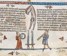 "Ooh, some ""Balancing"" competition from Team France. (Thanks Larsdatter) From the British Library, from The Decretals of Gregory IX, 1300-1340, Page here."