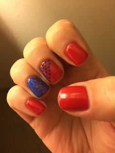 4th of July nails! #classy #shellac