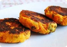 Slimming World Sweet Potato, Broccoli and Cheddar Patties