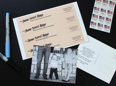 Announce your big move with postcard style moving announcements adorned with matching address labels.