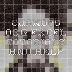 chandoo.org -- excel tutorials and help