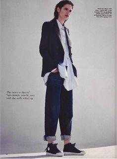 Asymmetric Bow Shirt | Victoria, Victoria Beckham | Pre Spring Summer 16 | British Vogue | Styling Lucy Bower