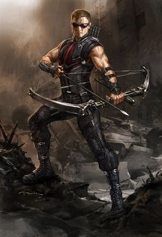 Avengers Hawkeye concept art by Andy Park