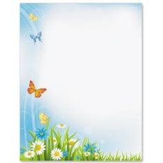 Butterfly Flight Letter Paper Frame Border Design, Boarder Designs, Borders For Paper, Borders And Frames, Kids Background, Paper Background, Picture Borders, Printable Lined Paper, School Frame