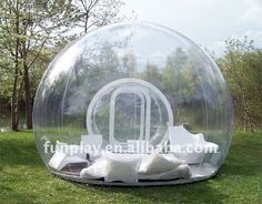 Inflatable Lawn Tent...be awesome to be in while raining!  Seemed a little stupid to me at first, but after reading the rain comment....this would actually be pretty cool!