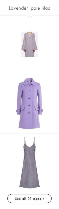 """Lavender, pale lilac"" by lorika-borika on Polyvore featuring мода, Grafea, Mojo Moxy, outerwear, coats, purple, fur-lined coats, slim fit coat, purple coat и michael kors"