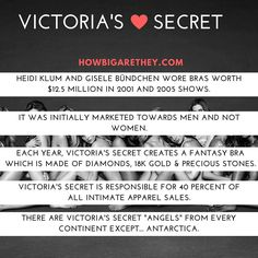 five facts about Victoria's Secret  #QuickFacts #VSFacts #VictoriasSecret #Facts