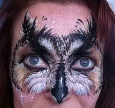 Owl mask face paint