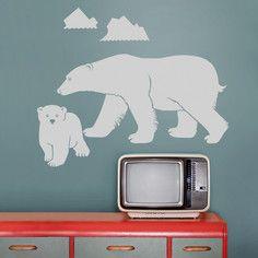 Polar Bear Wall Decal, $52, now featured on Fab.