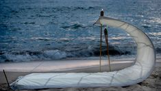 From Pamplona-based sustainable design firm DVELAS comes Living Sails, a collection of thoughtfully designed outdoor furniture made from retired sailcloth that would have otherwise been unceremoniously discarded. Sustainable Furniture, Sustainable Design, Coastal Living, Coastal Decor, Outdoor Seating, Outdoor Decor, Outdoor Living, Spanish Design, Lounge Design