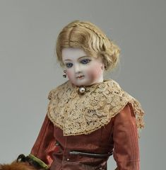 Lot: Antique Bisque French Fashion Doll, Lot Number: 0101, Starting Bid: $1,000, Auctioneer: Myers Fine Art, Auction: European and Asian Antiques & Fine Art, Date: January 21st, 2018 EST