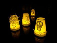 Styrofoam Cup Lanterns How-To