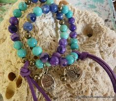 Intuition & Expression Bracelet - Inspirational handmade gemstone jewellery Earth Jewel Creations Australia