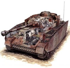 Inside view of Panzer IV Ausf. Military Gear, Military Photos, Military Equipment, Military Vehicles, Panzer Iv, Ww2 Weapons, George Patton, Tank Armor, Tank Destroyer