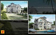 Thiết kế biệt thự tân cổ điển Mansions, House Styles, Manor Houses, Villas, Mansion, Palaces, Mansion Houses, Villa
