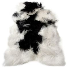 D-381 Gorgeous Spotted White Long Wool Icelandic Sheep Skin Large... ($99) ❤ liked on Polyvore featuring home, rugs, floor & rugs, grey, home & living, grey wool rug, white sheepskin rug, gray wool rug, wool area rugs and fur rug