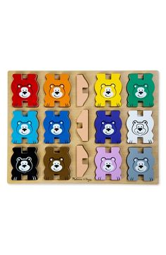 For Clayton. Melissa & Doug Stacking Bears Puzzle available at #Nordstrom