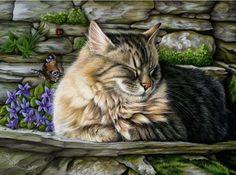 Cat - colored pencil drawing by Irina Garmashova