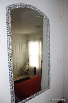 Putting a little BLING into a girly room mirror