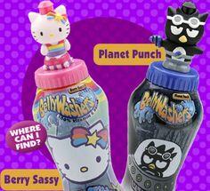 "(Release 43 Kitty, 44 Badtz) Hello Kitty 36050-1 and Badtz Maru 36050-2 from ""Sanrio Hello Kitty.""  Flavor: Hello Kitty Berry Sassy, Badtz Planet Punch. Launch date: February 2003."