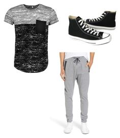 """ChilL"" by jizzy0701 on Polyvore featuring Boohoo, Zanerobe, Converse, men's fashion and menswear"