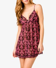 Ruffled Waverly Print Babydoll | FOREVER 21 - 2022181193