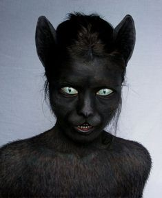 Scary Cat Makeup: 2019 ideas, pictures, tips — About Make up Halloween Cosplay, Halloween Make Up, Awesome Halloween Makeup, Creepy Halloween Costumes, Makeup Fx, Makeup Eyes, Witch Makeup, Horror Make-up, Teeth Drawing