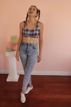 90s grunge Pure Jeanswear Acid Wash High Waist Jeans. #90s #fashion #watchwigs www.youtube.com/wigs