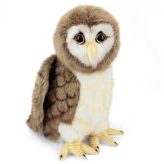The Handcrafted 9 Inch Lifelike Brown Owl Stuffed Animal by Hansa is an amazingly realistic and brilliantly designed stuffed animal that will last a lifetime. Our lifelike stuffed brown owl has a one of a kind appearance and a high level of quality that Baby Stuffed Animals, Stuffed Toy, Burrowing Owl, Great Grey Owl, Owl Pet, Great Horned Owl, Australian Animals, Snowy Owl, Bald Eagle