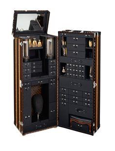 John Nollett's bespoke Louis Vuitton trunk cum styling station.
