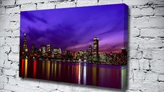 New York Harbor Purple city canvas from only £14.99 at Canvas Art Print http://www.canvasartprint.co.uk/products/NEW-YORK-HARBOR-PURPLE-438735.aspx