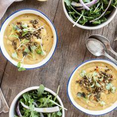 Garlicky Leek Artichoke Soup