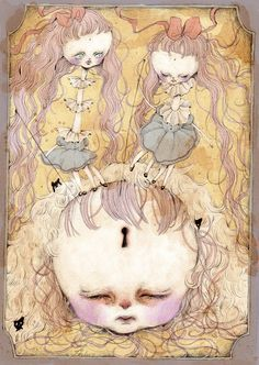 Japanese artist Risa Mehmet states she draws her sad memories. Judging on the sad and creepy works in her portfolio she must have been through a lot of bad things in her life… It's a good thing she dares to share those dark thoughts with us though, her work is absolutely astonishing. I probably don't …