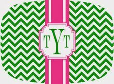 Miss Southern Prep: Day 6: Monogrammed Platter from Pink Wasabi Ink