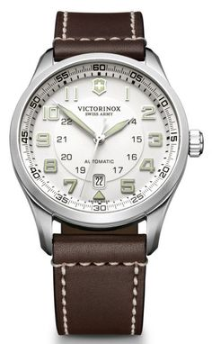 Victorinox Swiss Army Watch AirBoss Mechanical #bezel-fixed #bracelet-strap-leather #brand-victorinox-swiss-army #case-material-steel #case-width-42mm #classic #date-yes #delivery-timescale-call-us #dial-colour-silver #gender-mens #movement-automatic #official-stockist-for-victorinox-swiss-army-watches #packaging-victorinox-swiss-army-watch-packaging #style-sports #subcat-airboss #supplier-model-no-241505 #warranty-victorinox-swiss-army-official-3-year-guarantee #water-resistant-100m