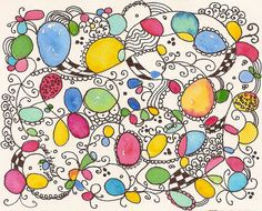 Hot Air Ballons by jjlcooterpie, via Flickr    doodling...with tangles