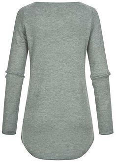 ONLY Damen NOOS Long Pullover mit Rollkante am Saum chinois grün Thug Life, Brave, Urban Surface, Madonna Mode, Longsleeve, Pullover, Men Sweater, Sweatshirts, Sweaters