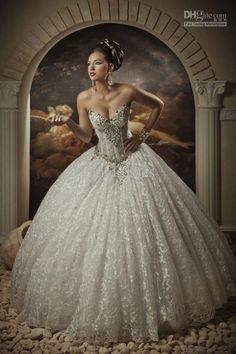 White Ivory Lace wedding dress