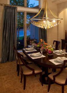 Transitional Dining Space. NR Interiors San Antonio, TX.
