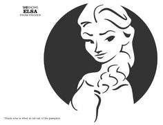 Pumpkin carving templates from Frozen and other kids' movies