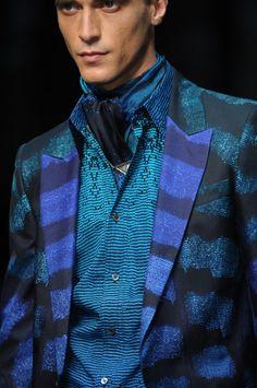 #RobertoCavalli ~ Menswear SS 2013 fashion show - Detail