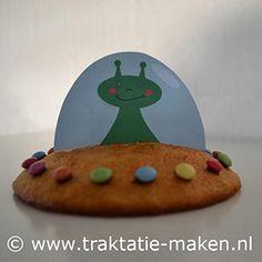 afbeelding traktatie Eierkoek UFO