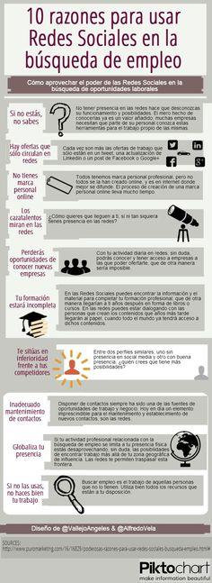10 razones para usar Redes Sociales en la búsqueda de empleo #infografia #socialmedia
