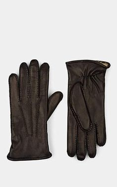 277b880ff34 Barneys New York Men's Fur-Lined Leather Gloves - Black