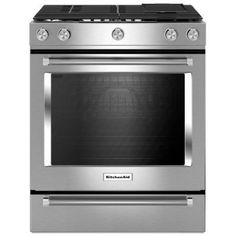 Buy the KitchenAid Stainless Steel Direct. Shop for the KitchenAid Stainless Steel 30 Inch Wide Cu. Slide-In Electric Range with 5 Cooking Elements and save. Kitchen Stove, Kitchen Appliances, Kitchen Reno, Kitchen Ranges, Kitchen Remodeling, Condo Kitchen, Cooking Appliances, Remodeling Ideas, Copper Appliances