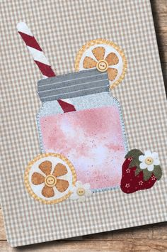 (TWBP42) Strawberry Lemonade Patternlet Bear Design, My Design, Buy Tea, Small Sewing Projects, Strawberry Lemonade, Table Toppers, Quilting Patterns, Tea Towels, Decorative Pillows