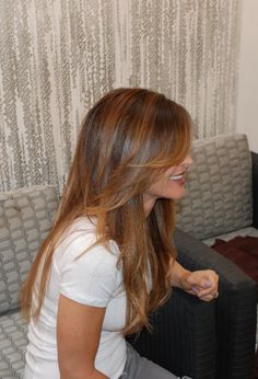 Or I was thinking this... I actually really like this. I wanna be dark but I want some change... so i think would get me started to going lighter for the summer... blond highlights this summer im thinking :D