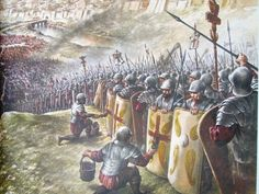 Preparing for the Battle of the Milvian Bridge. Fantasy Armor, Medieval Fantasy, Valhalla, Roman Legion, Armadura Medieval, Medieval World, Roman Soldiers, Roman History, Picture Postcards