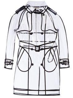 WANDA NYLON Transparent Mid-Length Raincoat